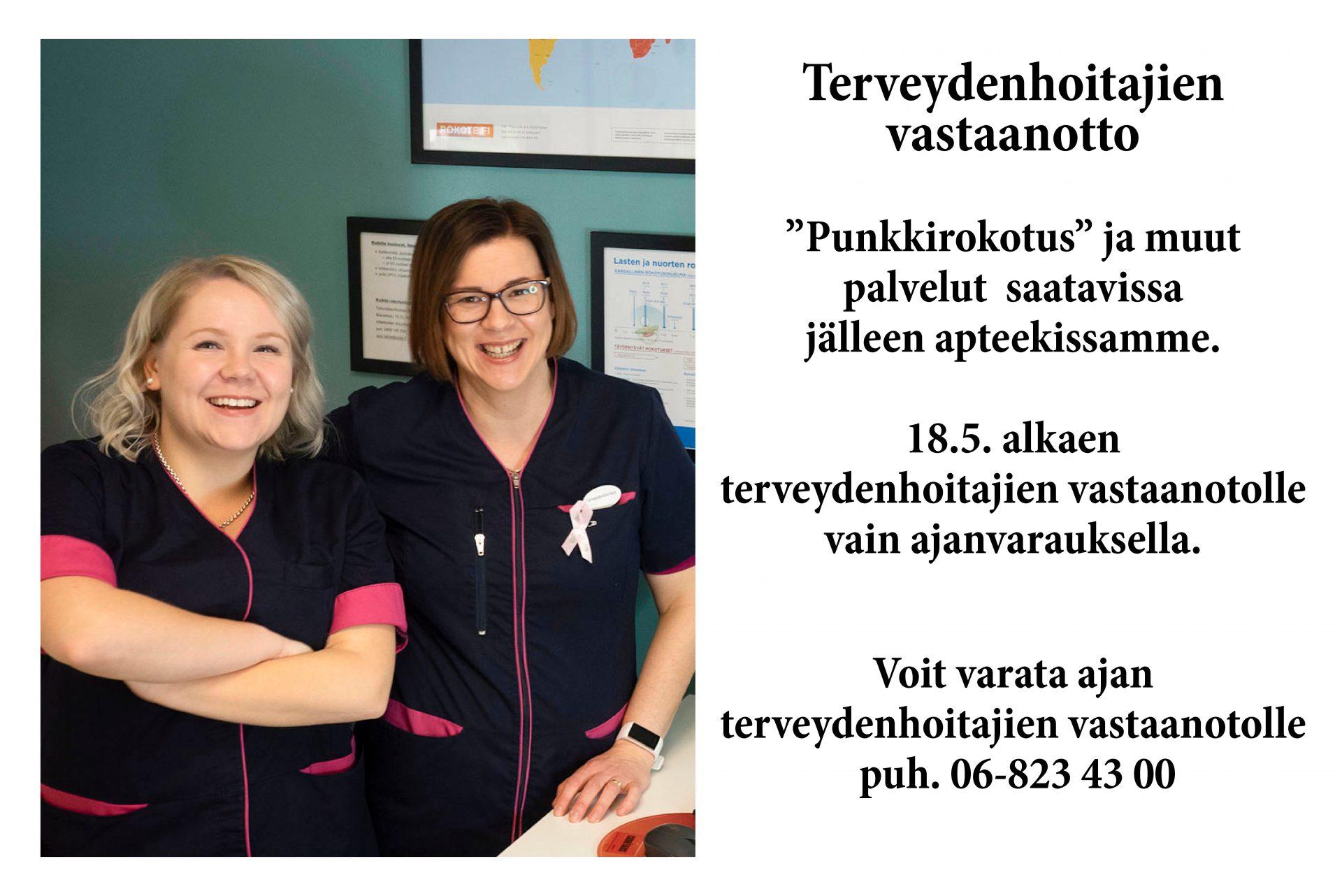 Terveydenhoitajan vastaanotto COVID-19 UUSI